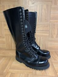 Rare🔥 Underground Tall Steel Toe Leather Combat Boots Sz 5 Menand039s - 7 Womenand039s