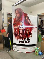 Last Jedi- Two Separate Star Wars 8ft Movie Release Standees One Red One Black