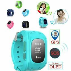 Gps Smart Kids Childrenand039s Watch Sos Call Location Finder Child Locator Tracker