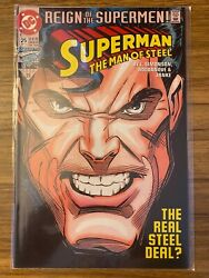 Dc Comics Superman Man Of Steel, Issue 25- Reign Of The Supermen