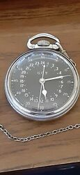 Superior Hamilton 22jewel1941 Military Issue, Pocket Watch, Fob Andchain, Serviced