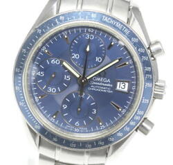 Omega Speedmaster Date 3212.80 Navy Dial Automatic Menand039s Watch_602232