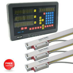 Sinpo 3 Axis Digital Readout +3 Linear Scales Dro Kit For Mill Milling Machine