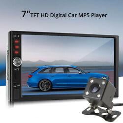 7in Screen Bluetooth Car Radio Stereo Mp3 Mp5 Audio Video Player Rearview Camera