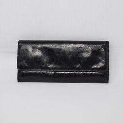 HOBO Women#x27;s Black Leather Trifold Wallet $32.00