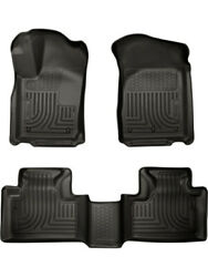 Husky Liners Floor Liner Weatherbeater Front And 2nd Row Plastic Black Andhellip 99051