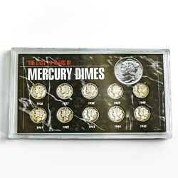 Morgan Mint The Last 10 Years Of Mercury Dimes Collection 1936-1945