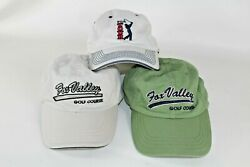 Golf Hats Cap Lot Of 3 Pga Tour Hat And 2 Fox Valley Golf Course Hats Adjustable