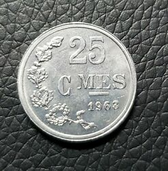 Luxembourg 1963 - 25 Centimes Aluminum Coin