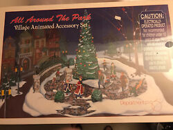 Department 56 All Around The Park Village Animated Accessory 52477 Nib Sealed