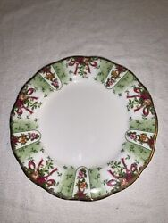 Royal Albert Old Country Roses Ruby Celebration Green Damask Salad Plate