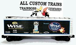 Lionel O Scale 3rail Custom Lettered Wise Potato Chips Collectible Reefer Lot