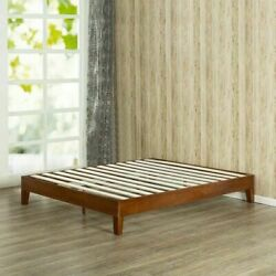 King Size Bed Frame Solid Wood Platform Modern Farmhouse Mid Century Mission New