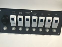 Switch Boat Panel Ready To Go All Oem Component 7 Rocker Switch And 12v Outlet