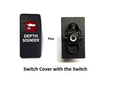 Marine Rocker On Off Spst Switch With Contura Ii Switch Cover Depth Sounder