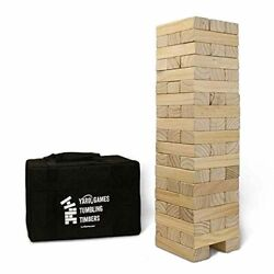 Yard Games Giant Tumbling Timbers With Carrying Case Starts At 2.5-feet Tall And