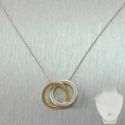 And Co. 18k Yellow Gold And Sterling Silver Interlocking Circles 16 Necklace