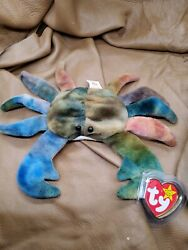 Ty Beanie Babies Claude The Crab Issued 96 Pvc Extremely Rare Mint