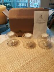 Partylite Tealight Globe Candle Holders Set Of 3