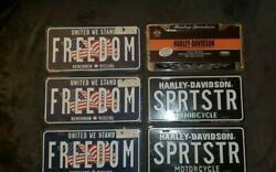 Harley Davidson License Plate And Frame Collection