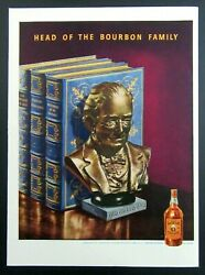 1943 Old Grand - Dad Whiskey Magazine Ad - Head Of The Bourbon Family