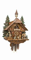Cuckoo Clock With Moving Dancers Musicians And Beer Drinker.. Ka 3741/8 Ex New