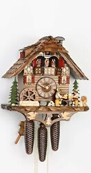 Cuckoo Clock Black Forest House With Moving Beer Drinkers And Mi.. Ka 3729/8 New