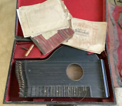 Antique Harp Guitar Do Not See Name Or Signature German Music Books