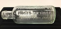 Vintage 1800s 12-sided Atwood's Jaundice Bitters Georgetown Ma Medicine Bottle