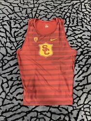 Rare Nike Ncaa Pac12 Usc Track And Field Team Issued Singlet Xxl Made In Usa