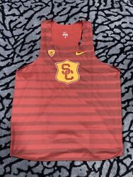 Rare Nike Ncaa Pac12 Usc Track And Field Team Issued Singlet Xl Made In Usa