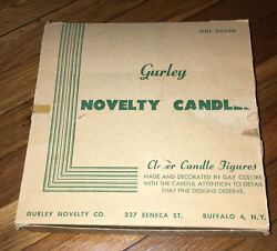 Rare Green Gurley Novelty Co. Vtg Angel Candles Store Display Box - Box Only
