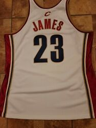 Nba Adult Xl 48 .. Lebron James 23 Authentic Mitchell And Ness Cavaliers Jersey