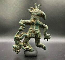 Old Antique Bronze Goat Lion Statue Ancient China Mongolian Ordos Culture 6th Bc
