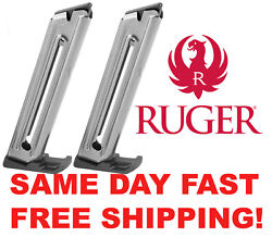 Two Ruger 22/45 Mark Iv 10 Rd 22 Lr Oem Mag. 90646 Same Day Fast Free Shipping