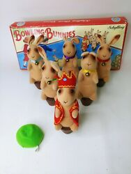 Vintage Schylling Classic Games Bowling Bunnies Missing 1 Cabbage Ball