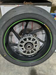 Kawasaki Zx10rr Marchesini Forged Oem Rear Wheel Complete With Tire 500 Miles