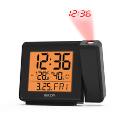Baldr Projection Alarm Clock Radio controlled Atomic Time Adjustable Projector