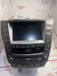 Radio W/gps-tv Screen And Heater/ac Control 86111-53050 Lexus Is250 2006 2007