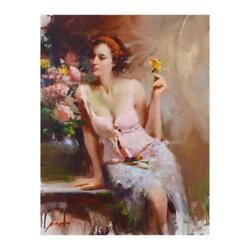 Pino Sweet Scent Hand Embellished Signed On Canvas Italian-american Artist