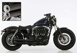 Falcon 2-2 Exhaust System Abe Black 14-17 Harley Sportster