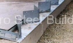 Duro Steel Arch Building 160and039 Metal Hand Welded Industrial Base Connector Plate