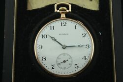 Vintage E. Howard Victorian 12 Size 17 Jewel Pocket Watch With Box