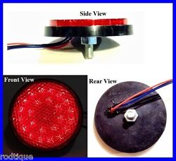 Flat Mount Round Red Led Light For Tailturn And Brake Universal Nrr