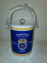 Teamsters Local St Louis Union 688 Happy Holidays 1996-10andrdquo Round Ice Bucket-euc