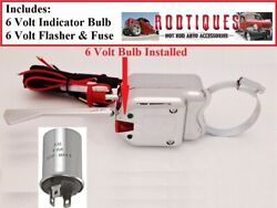 6 Volt Turn Signal Switch + Flasher + Fuse Clamps To Column 6v Older Fords