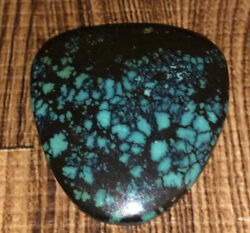 Finest Blue Moon Spiderweb Turquoise Gemstone Cabochon / Cab 39x37mm 67.55 Cts