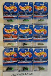 Hot Wheels 1998 First Edition Go Kart Neon Green Lot Of 9