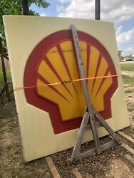 Large Vintage Shell Gas Sign 8 Feet Tall