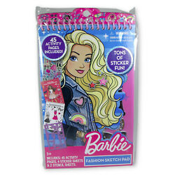 Barbie Fashion Sketch Book Set 45 Activity Pages 4 Stickers Sheets 2 Stencils